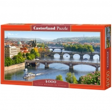 Castorland dėlionė VLTAVA BRIDGES IN PRAGUE 4000 det.