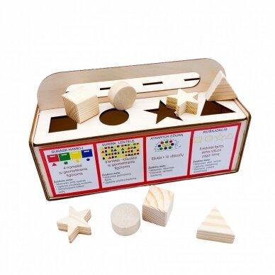 Edukacinis medinis žaidimas Stebuklinga skrynelė 3