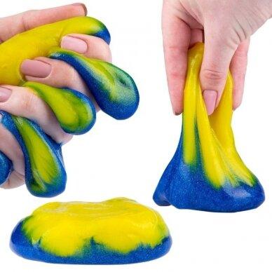 """Slaimas """"Smart slime 2in1"""", geltona-mėlyna, 500 g"""
