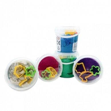 """Kinetinio smėlio Genio Kids rinkinys """"Smart Sand"""", 5 spalvos, 750 g 2"""
