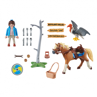 Konstruktorius PLAYMOBIL The Movie Marla su arkliu 2