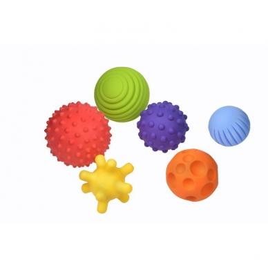 """Sensoriniai kamuoliukai """"Kūdikio raida"""" Fancy Baby, 6 vnt. 3"""