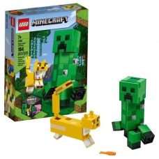 LEGO Minecraft BigFig Creeper™ BigFig su Ocelotu, 21156