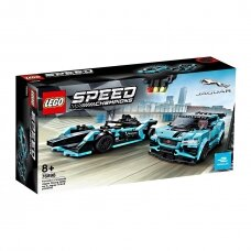 LEGO Speed Champions Formula E Panasonic Jaguar Racing GEN2 car & Jaguar I-PACE eTROPHY, 76898